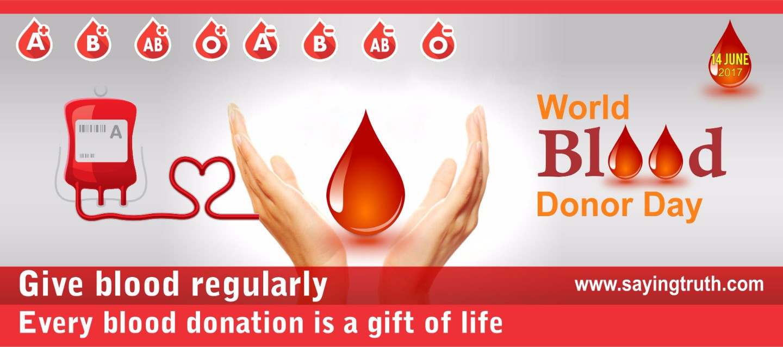 world blood donation day