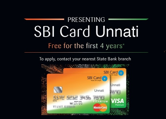 """SBI launched a Zero-Fee credit card """"Unnati"""" targeting the SBI customers across the country, including all the Jandhan account holders."""