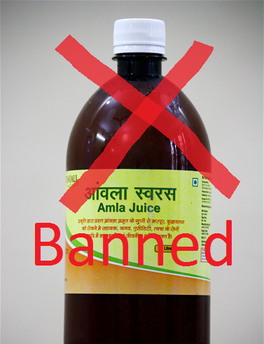amla juice banned