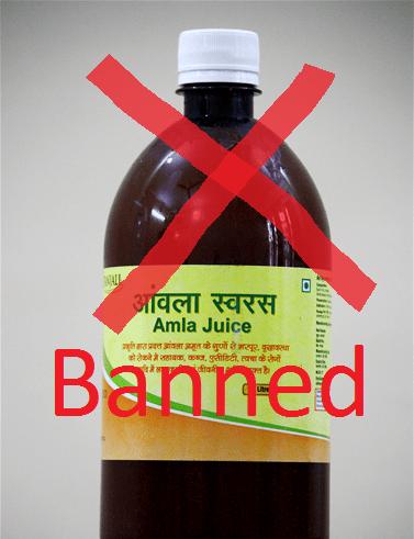 amla juice banned