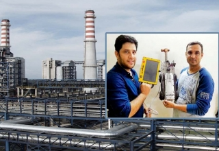 power plant robots, power plant robotic arm worker, tata power plant cgpl mundra, pulkit gaur robots gridrobot