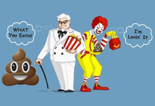 McDonalds vs KFC vs burger king, fecal matter in drinks, kfc unhygienic macdonalds