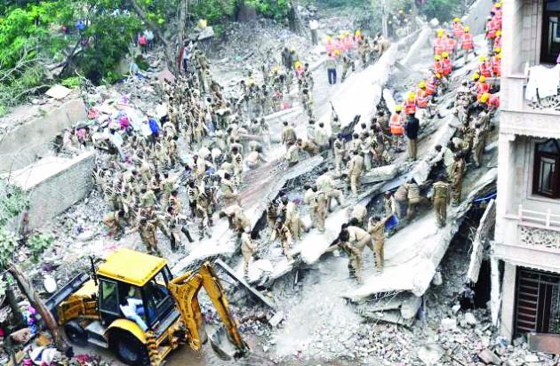 Delhi, Building collapses, luxmi nagar, Dera sirsa welfare