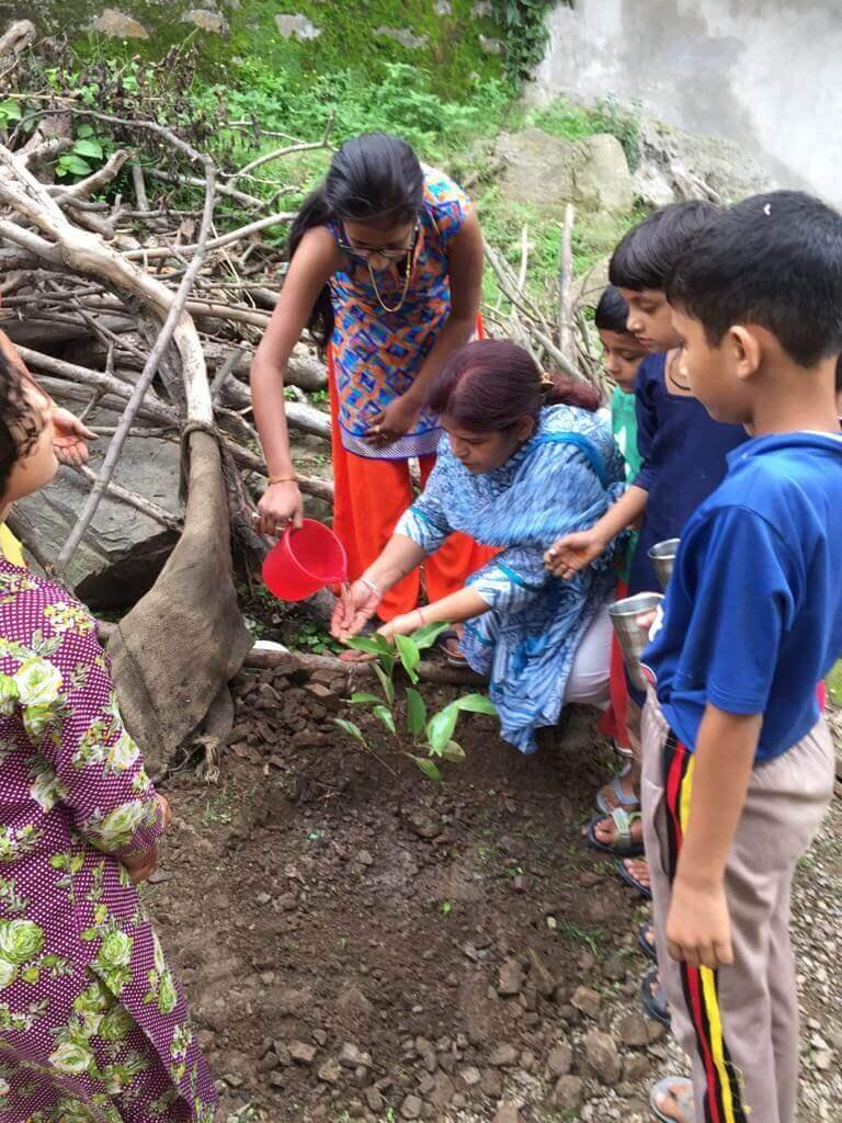 selfie with tree panchkula tree plantation